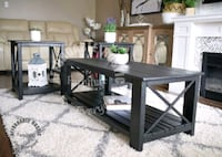 Rustic coffee table and end tables set (new) Brant