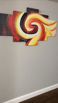 Large 5 piece canvas painting
