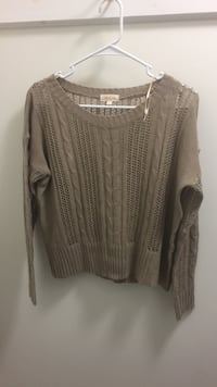 tan cable knit sweater Manchester, 03102