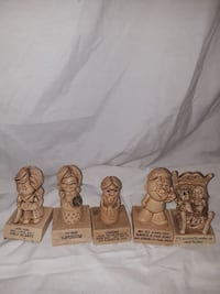 five beige human figurines with quote Glendale