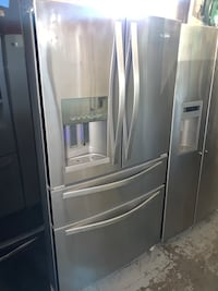 Whirlpool 36in. Stainless steel 4-doors fridge