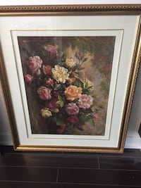 Beautiful colourful flowers with frame
