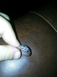 Cute studded leaf ring size 7 Rochester, 14616