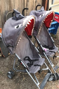 Two shark strollers