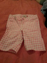 Girls white and pink plaid pants Gonzales, 70737
