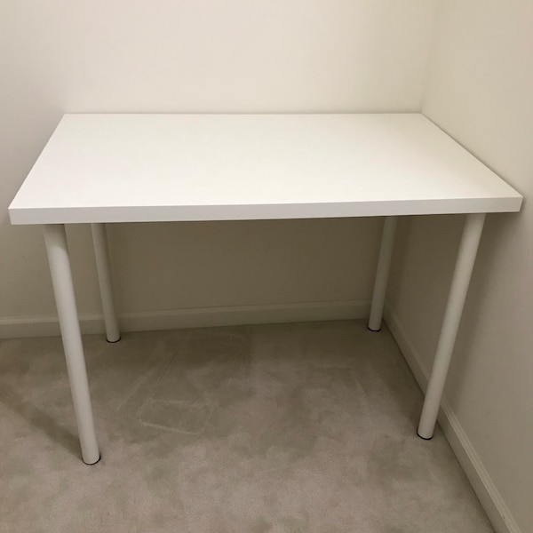 White wooden desk