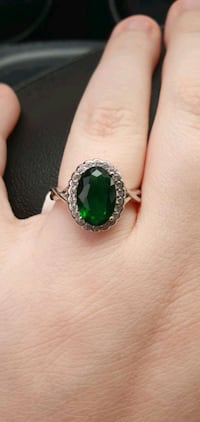 Emerald Green Sterling Silver Ring Kitchener