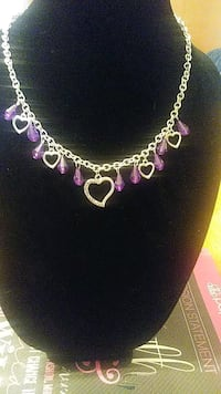 silver-colored and purple gemstone necklace Madison, 53713