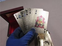24K REAL GOLD Deck Of Playing Cards!!! Very Rare!!! Toronto, M6A 2T9