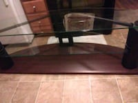 3 tier glass tv stand.  Inwood