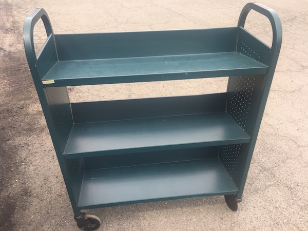Rolling book cart bookcase