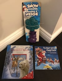 Children's Christmas Books and Snow Molds