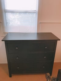 Black wooden 3-drawer chest Los Angeles, 90036