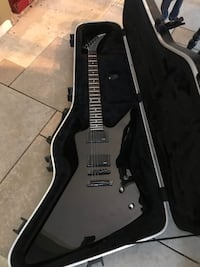 black electric guitar with case New Palestine, 46163