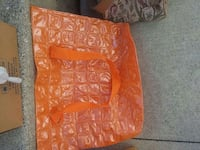 Blow up floating plastic beach bag