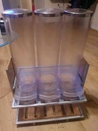 3 container cereal dispenser