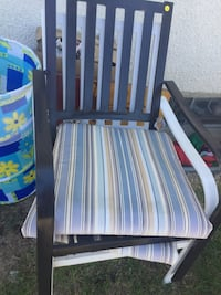 Set of metal patio chairs and cushions  Edmonton, T5A 2S8