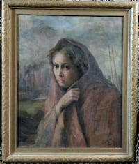 Antique Oil on Board, purchased at Eaton's Toronto, M2N 5W4
