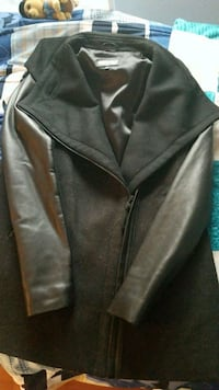 black leather button-up jacket Dorval, H9S 3W7