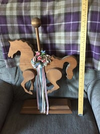 Rustic Wooden Carousel Horse #1