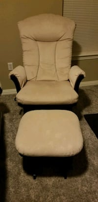 Comfortable glider chair and ottoman- great for nursery