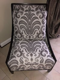 Btf gray and white chair wood trimmed chair.  Beautiful accent chair. Woodbridge, 22191