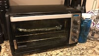 Black and silver toaster oven