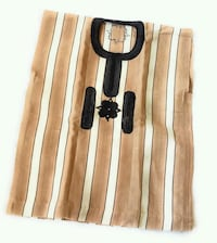 1 PIECE HAND WOVEN BROWN WITH CREAM DASHIKI  Owings Mills