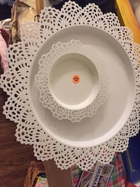 white ceramic plate with saucer 264 mi
