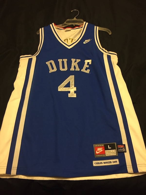 official photos 11fb9 28e13 Carlos Boozer #4 Duke Blue Devils basketball jersey