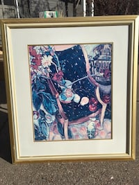 Beige framed multicolored abstract painting OBO Edmonton, T6J 1H7