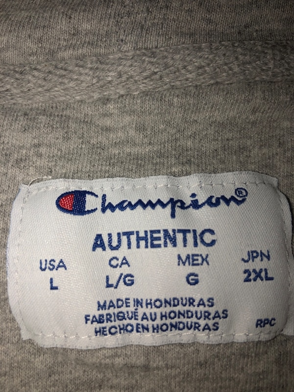 White Champion Hoodie (Large) 4ff5beca-9b1e-4565-a2d9-4840931afd11