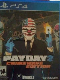 Payday crime wave edition PS4 game case
