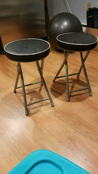 two black metal bar stools Brampton, L6R 1L2