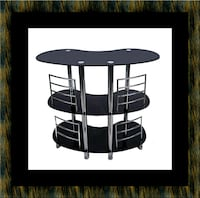 12911 bar glass table Glen Burnie