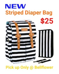 NEW!! Striped Diaper Bag 2268 mi