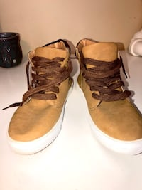 Qupid Tan Sneakers, Size 8.5
