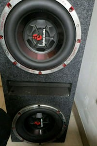 "Two 12"" subwoofer speaker in box. Rutherford, 07070"