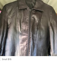 Black leather zip up jacket Fort Mill, 29708