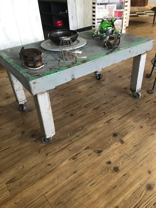 Industrial style coffee table!!
