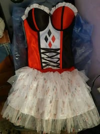 OSFM Harley Quinn DC Halloween Corset and Tutu  Vancouver