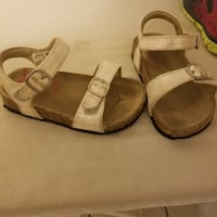 pair of brown leather sandals Mission