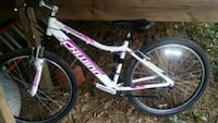 white and pink Mongoose full-suspension bike Lexington, 40517