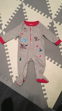 Indigo Baby's gray and red footie Vaughan, L6A 2C9