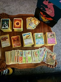 Pokemon card collection with accessories included