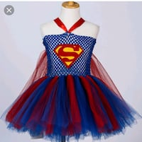 women's blue and red super girl tutudress