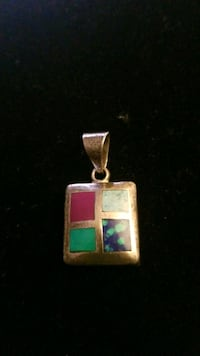 Sterling silver charm with four stone Hyattsville, 20784