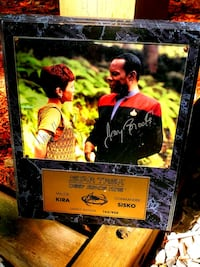 Autographed Star Trek Marble Plaque (163-950) in preloved condition an Woodbridge, 22192