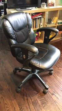 Black leather office chair Toronto, M5P 2X8
