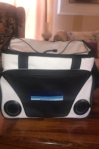 Lunch box with built in speakers.